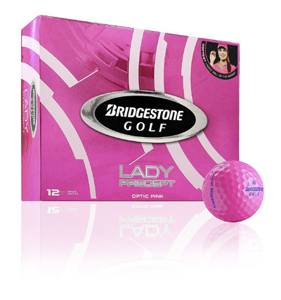 Golfbollar Bridgestone Lady Precept Optisk rosa 12-pack