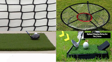 Golf Home Practice Package Basic Plus Deluxe indoors outdoors
